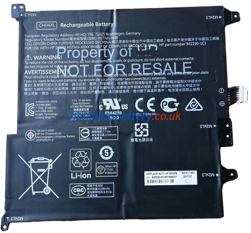 Battery for HP CH04XL laptop