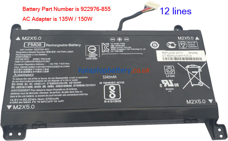 Battery for HP FM08 laptop