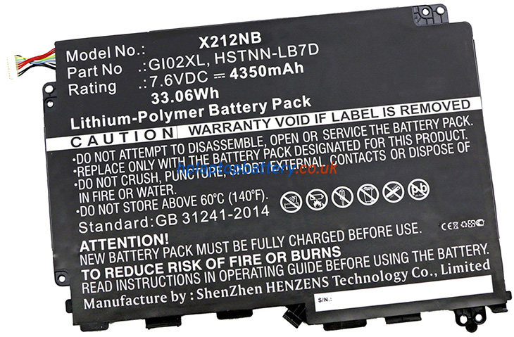 Battery for HP GI02033XL laptop