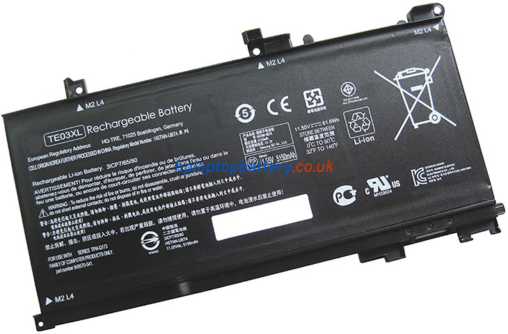 Battery for HP Omen 15-AX103TX laptop