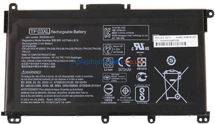 Battery for HP Pavilion 14-BF010TX laptop