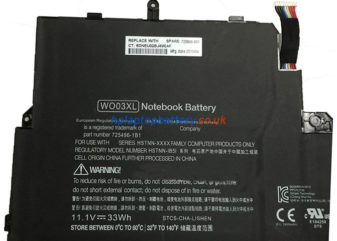 Battery for HP WO03XL laptop