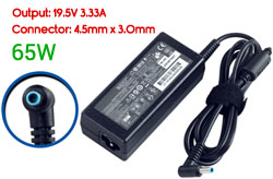 Replacement HP 19.5V 3.33A, 65W AC Adapter