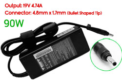 Replacement HP 19V 4.74A, 90W Ac Adapter